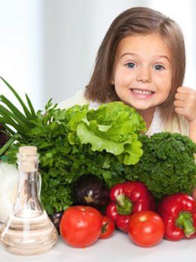 la dieta vegetariana en niños