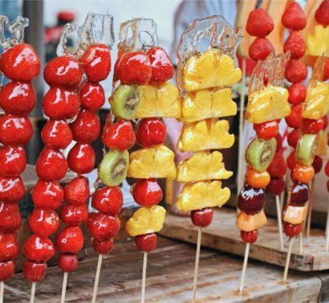 Postres_ frutas acarameladas de China